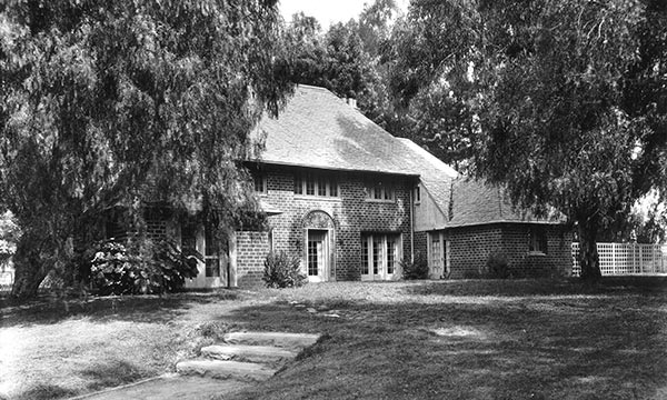 Rear View of Superintendent's Residence and Backyard Garden